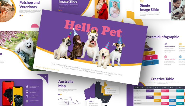 Hello Pet PowerPoint Template 1