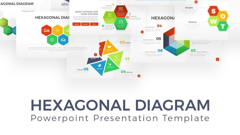 Hexagon Infographic PowerPoint Template