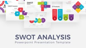 Pattern SWOT Infographic PowerPoint Template