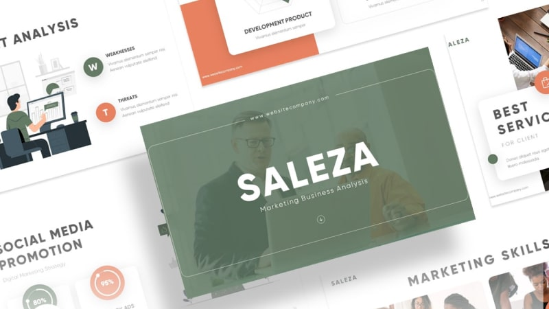 Saleza Sales PowerPoint Template