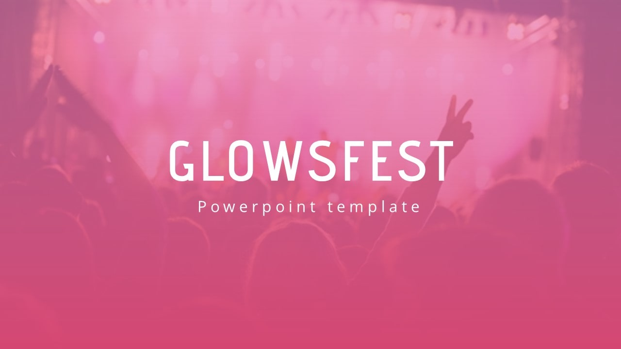Free Glowsfest Music PowerPoint Template