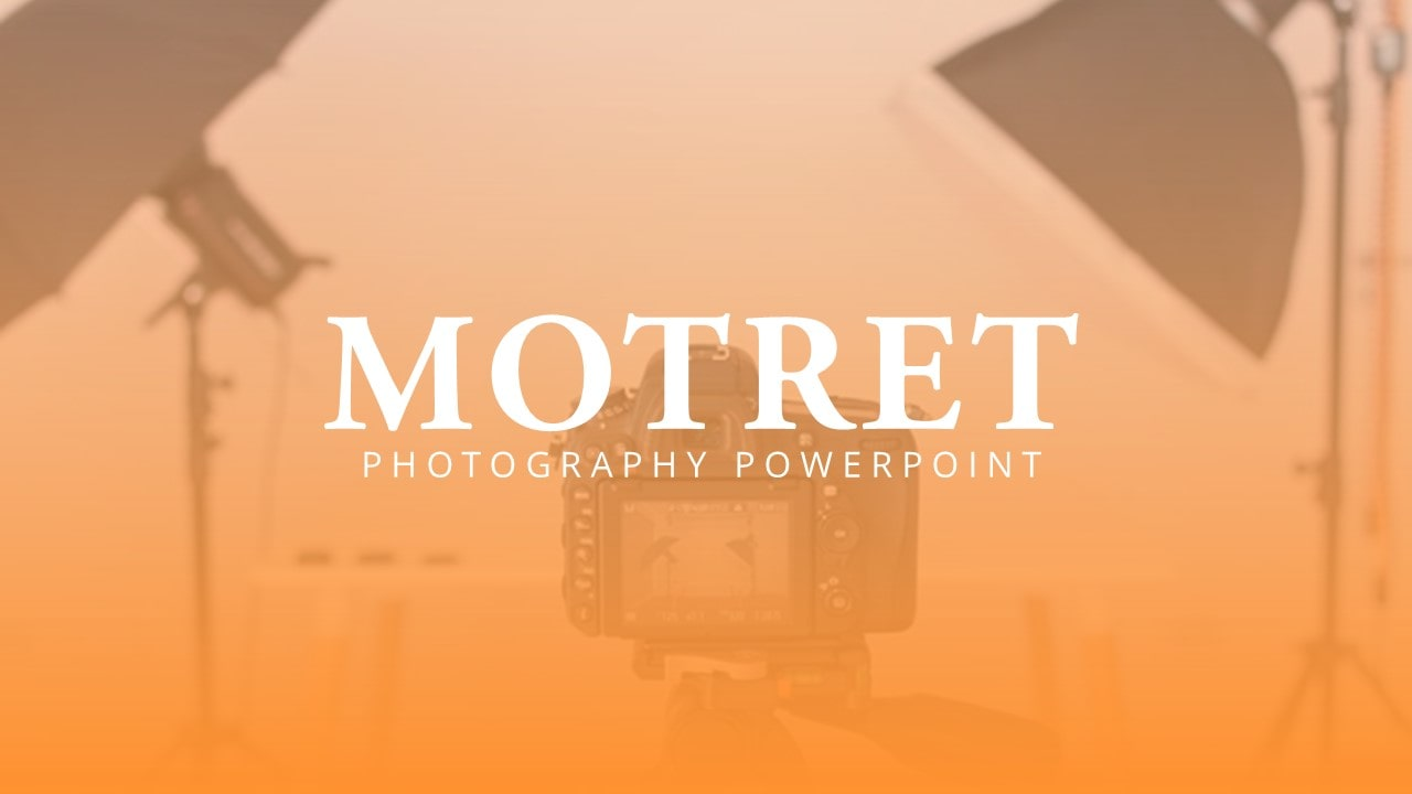Free Motret Photography PowerPoint Template