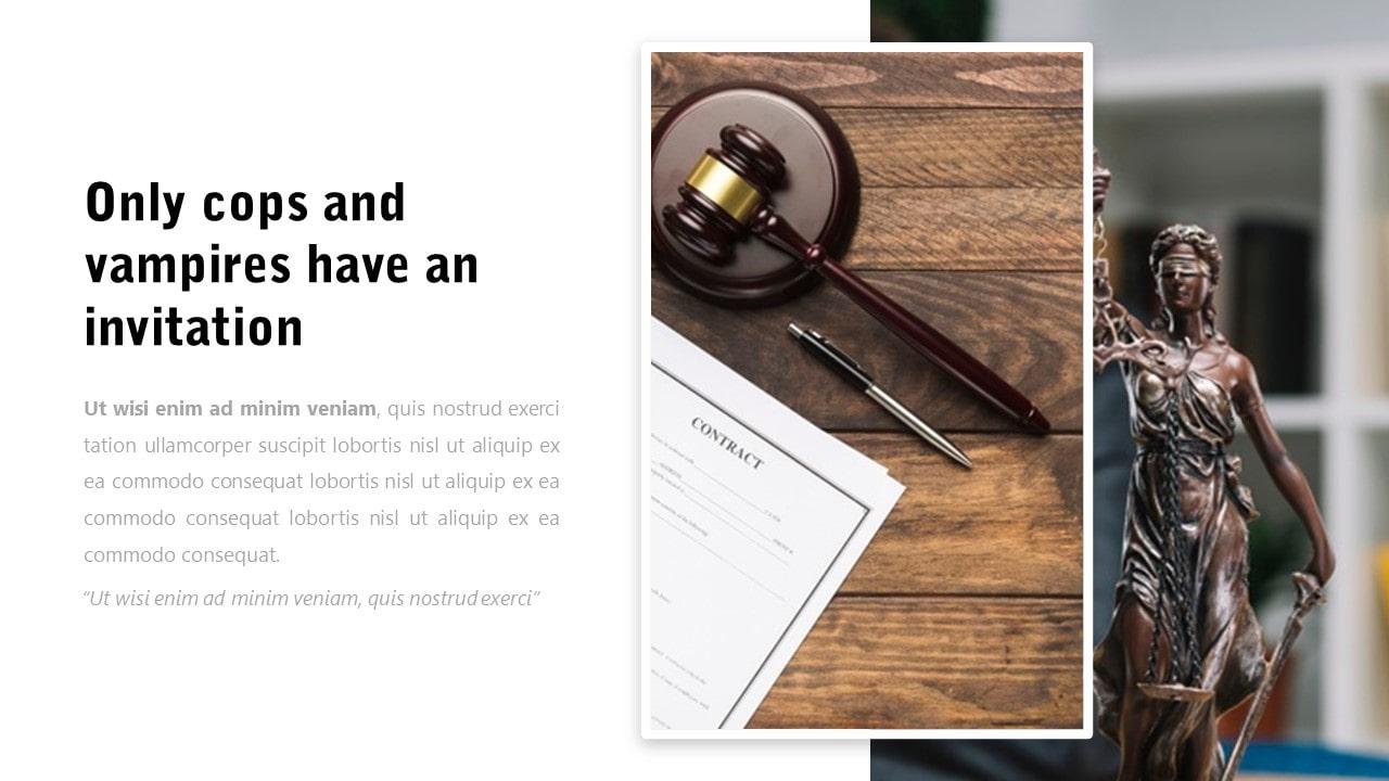 Free Kontra Law PowerPoint Template