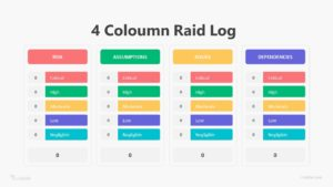 Coloumn Raid Log Infographic Template