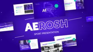 Aerosh Sports PowerPoint Template