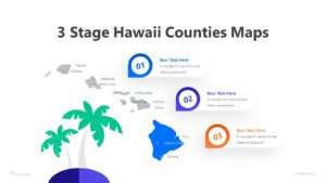 3 Stage Hawaii Counties Maps Infographic Template