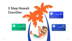 3 Step Hawaii Counties Infographic Template