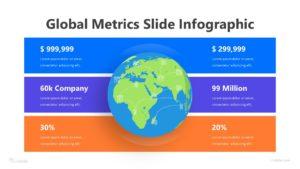 4 Global Metrics Slide Infographic Template