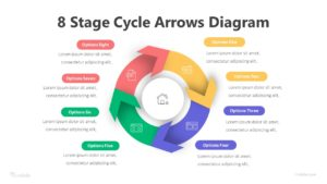 8 Stage Cycle Arrows Diagram Infographic Template