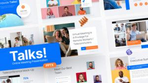 Talks! Online Meeting PowerPoint Template
