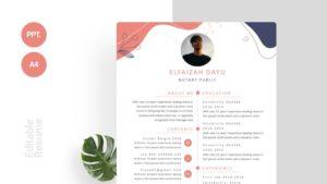 Modern Foliage Curriculum Vitae Thumbnail Template