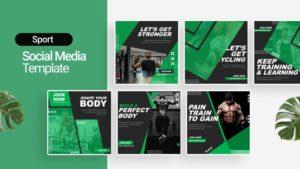 Sport Fitness Social Media Template