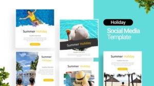 Summer Travel Social Media Template