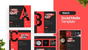Watch Store Social Media Template