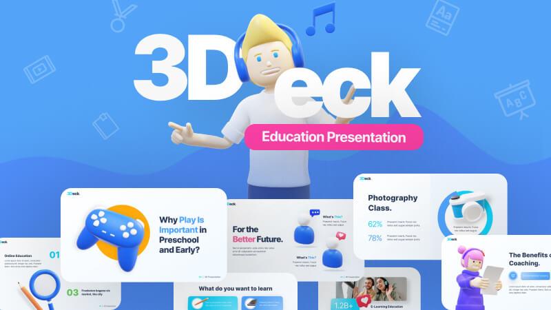 3Deck Education Creative PowerPoint Template