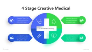4 Stage Creative Medical Infographic Template