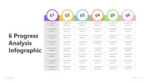 6 Progress Analysis Infographic Template