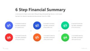6 Step Financial Summary Infographic Template