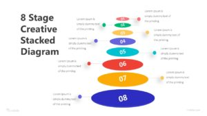 8 Stage Creative Stacked Diagram Infographic Template