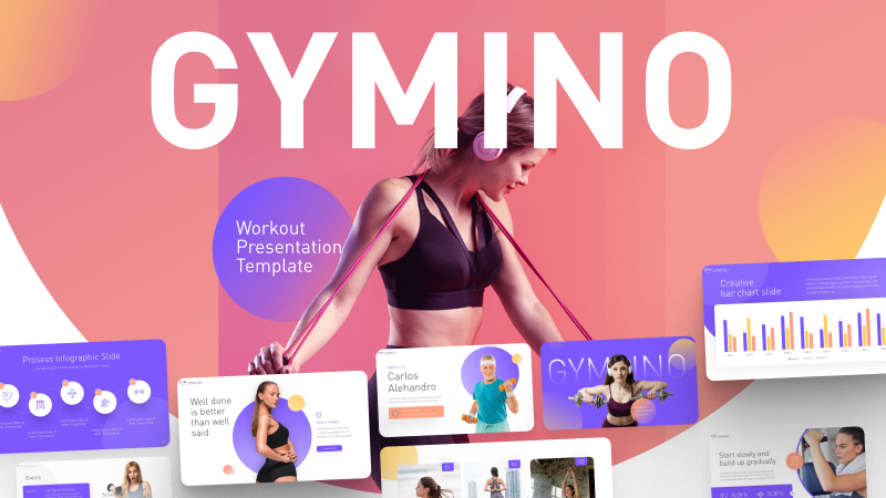 Gymino Workout PowerPoint Template