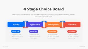 4 Stage Choice Board Infographic Template