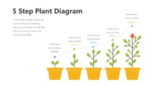5 Step Plant Diagram Infographic Template