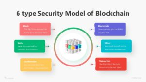 6 type Security Model of Blockchain Infographic Template